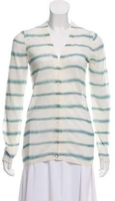 Prada Sport Linen Semi-Sheer Striped Cardigan w/ Tags