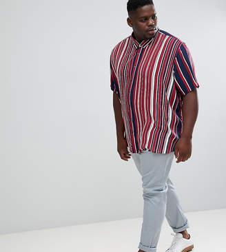Jacamo short sleeve shirt in stripe