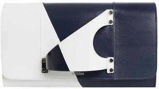 Perrin Paris L'Eiffel Colorblock Leather Clutch Bag
