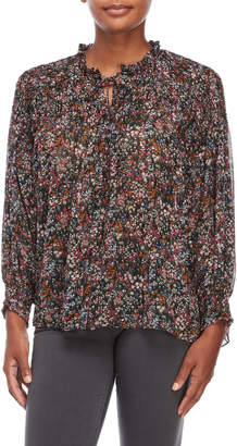 philosophy Floral Print Self-Tie Blouse
