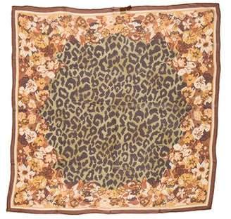 Fendi Floral Silk Scarf