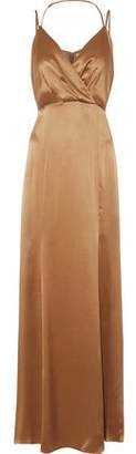 L'Agence Octavia Silk-Satin Maxi Dress