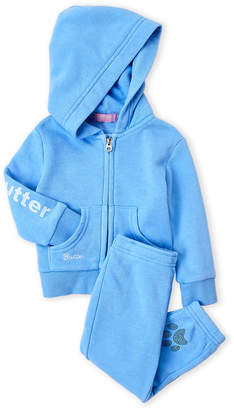 Butter Shoes Infant Girls) Two-Piece Zip-Up Fleece Hoodie & Sweatpants Set