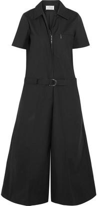 Maison Margiela - Coated Cotton-blend Poplin Jumpsuit - Black $1,685 thestylecure.com