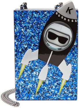 Karl Lagerfeld Space Minaudière Box Clutch