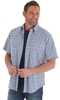 Wrangler Men's Wrinkle Resist Short Sleeve Snap Front Shirt