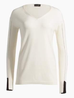 St. John Jersey Knit V-Neck Sweater