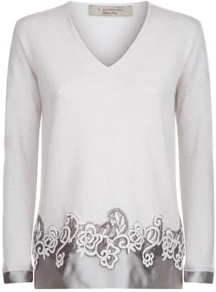 D-Exterior D.Exterior Lace Trim Sweater