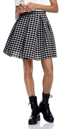 Maje Jungo Oversize Pleated Checked Skirt
