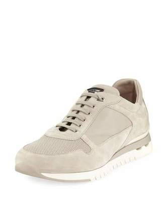 Stefano Ricci Men's Suede and Leather Trainer Sneakers