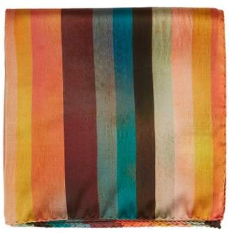 Paul Smith Artist Striped Silk Pocket Square - Mens - Multi