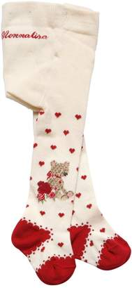 MonnaLisa Bear Intarsia Cotton Knit Tights
