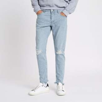 River Island Only and Sons light blue bleach slim fit jeans