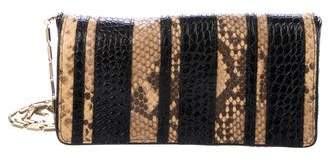 Dries Van Noten Python & Embossed Leather Clutch