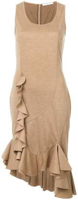 Givenchy knitted frill-hem midi dress