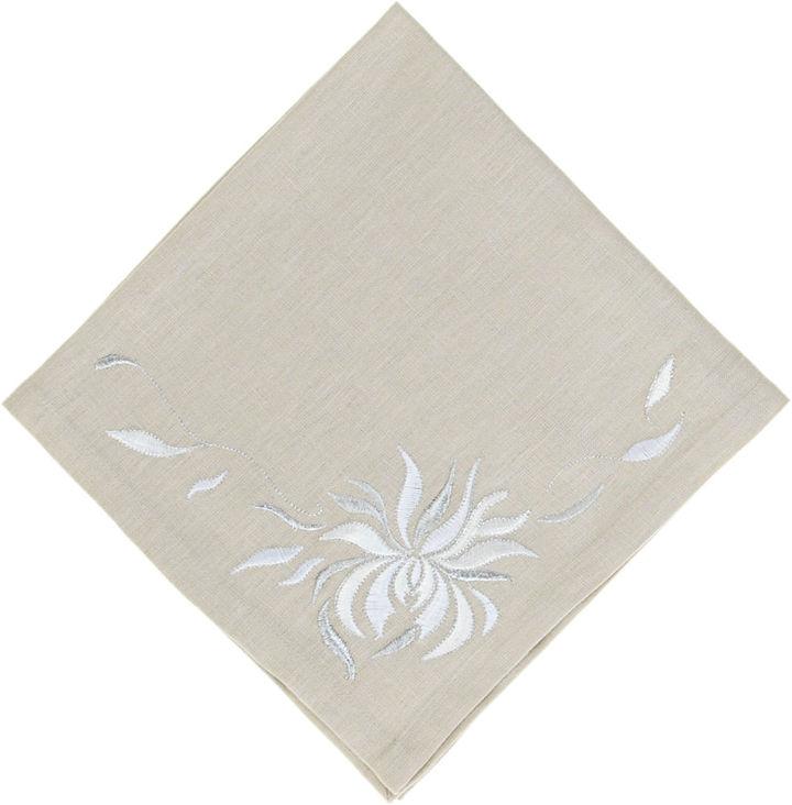 Kim Seybert Chrysanthemum Napkin- Greige