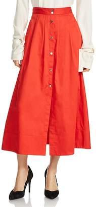 Maje Jupalo Midi Skirt