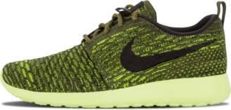 Nike Womens Roshe One Flyknit Rough Green/Black