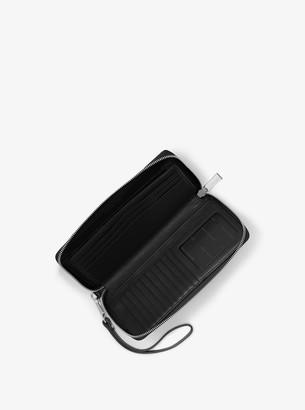 ce9c6ae6e7e7 Michael Kors Jet Set Travel Leather Continental Wristlet - ShopStyle