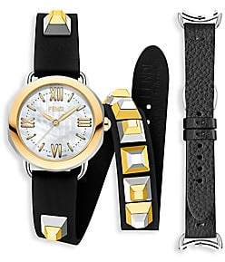 Fendi (フェンディ) - Fendi Fendi Selleria Leather Strap Watch Set