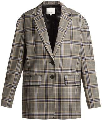 Tibi Lucas oversized checked woven blazer