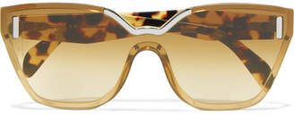 Prada - Cat-eye Tortoiseshell Acetate And Silver-tone Sunglasses $460 thestylecure.com