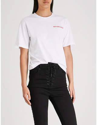 Mo&Co. Slogan-print cotton T-shirt