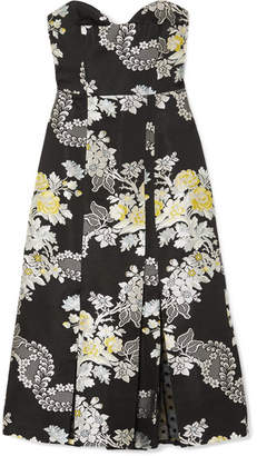 Erdem Leora Floral-jacquard Midi Dress - Black