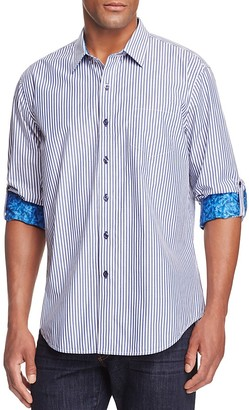 Robert Graham Benedetto Striped Classic Fit Button-Down Shirt - 100% Bloomingdale's Exclusive $168 thestylecure.com