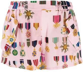 Mr & Mrs Italy medal pattern shorts