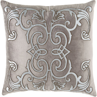 """Lili Alessandra Mozart Platinum Pillow, 24""""Sq."""