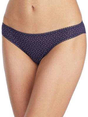 OnGossamer Dot Print Mesh Bikini Panties