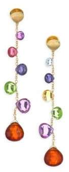 Marco Bicego Paradise Drop Earrings With Mixed Gemstones