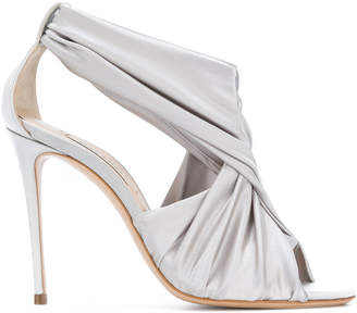 Casadei draped crossover sandals