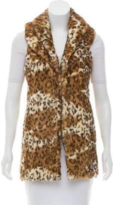 Alice + Olivia Casual Cheetah Print Vest