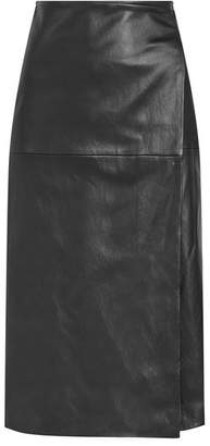 Rosetta Getty Leather Skirt