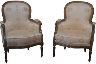 One Kings Lane Vintage French Louis XVI-Style Bergères - Set of 2