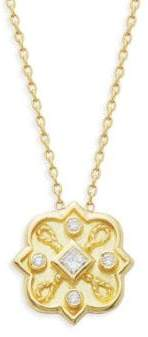 Amrapali Heritage 18K Yellow Gold & Diamond Mosaic Pendant Necklace
