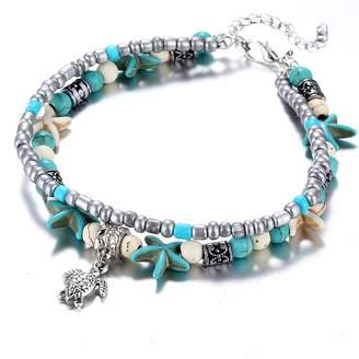 MINGHUA Women Girls Fashion Anklet Starfish Beach Sandals Foot Chain Bracelet