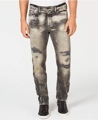 Sean John Men's Five-Pocket Destructed Jeans