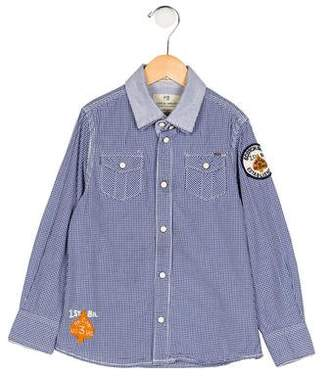Scotch Shrunk Boys' Gingham Embroidered Shirt