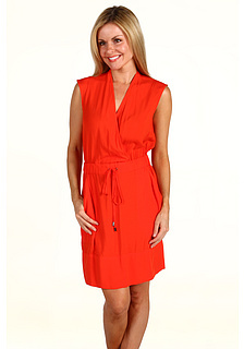 Kenneth Cole New York Petite Smocked Waist Pullover Dress