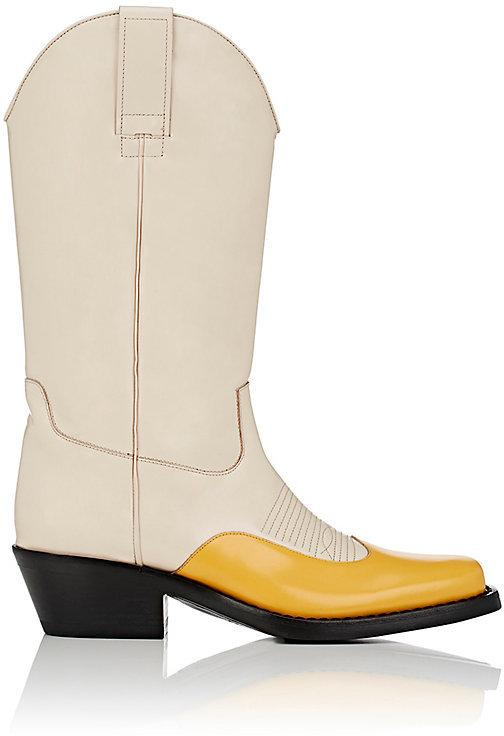 CALVIN KLEIN 205W39NYC Women's Spazzolato Leather Cowboy Boots
