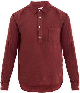 Solid & Striped Popover half-button linen shirt