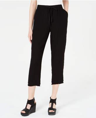 Eileen Fisher Organic Cotton Crinkle Drawstring Pants, Regular & Petite