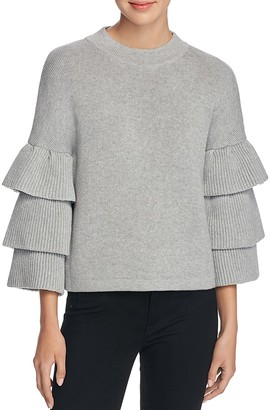 Endless Rose Tiered Ruffle Sleeve Sweater $78 thestylecure.com