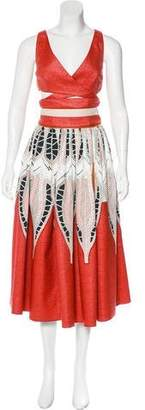 Sophie Theallet Woven-Paneled Cutout Dress w/ Tags