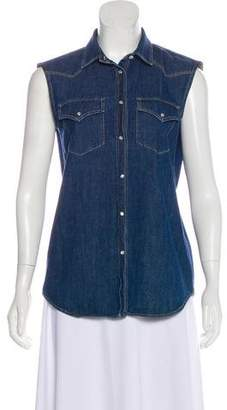 Brunello Cucinelli Denim Sleeveless Top