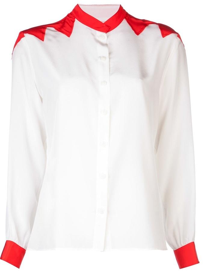 Tucker western button down blouse