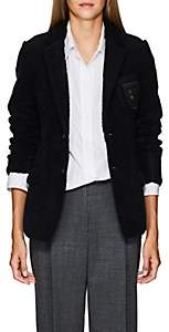 """Undercover Women's """"We Are Infinite""""-Patch Wool-Blend Sherpa Blazer - Navy"""